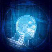 X-ray image of a man's head — Stock Photo
