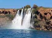 Waterfall and sea — Stock Photo