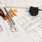 Постер, плакат: Construction drawings Desk builder