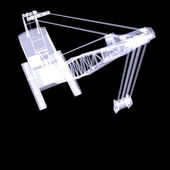 Crawler crane. X-ray — Stock Photo