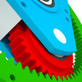 Mechanism of colored gears — Stock Photo