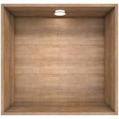 Wooden shelf with a light source — ストック写真