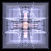 Several cubes connected by one core. X-ray — Foto Stock