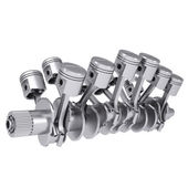 Crankshaft and pistons — Stock Photo