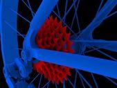 Bicycle. Wheel — Stock Photo