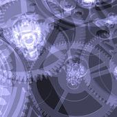 Clock mechanism. X-ray — Stock Photo