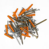 Screws and dowels — Stockfoto