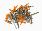 Screws and dowels — Stock Photo