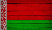 Belarus flag painted on wooden boards — Stock Photo