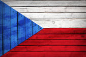 Czech flag painted on wooden boards — Stock Photo