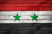 Syria flag painted on wooden boards — Stock Photo