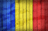 Chad flag painted on wooden boards — Stock Photo