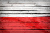 Poland flag painted on wooden boards — Stock Photo