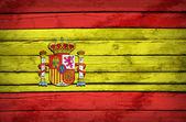 Bandiera spagnola dipinta su tavole di legno — Foto Stock