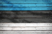 Estonia flag painted on wooden boards — Stock Photo