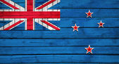 New Zealand flag painted on wooden boards — Stock Photo