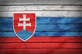 Slovak flag painted on wooden boards — Stock Photo