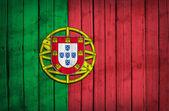 Flaga portugalii, malowane na drewnianych tacach — Zdjęcie stockowe