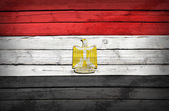 Egyptian flag painted on wooden boards — Foto Stock