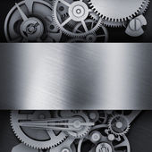Gear in a metal frame — Stock Photo