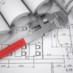 Архитектурные чертежи — Стоковое фото