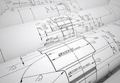 Engineering drawings — 图库照片