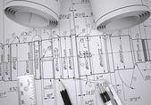 Engineering drawings — Stock Photo