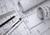 Desenhos arquitetônicos — Fotografia Stock