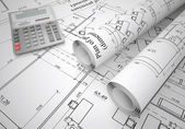 Architectural drawings — Stock Photo