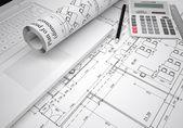 Disegni architettonici — Foto Stock