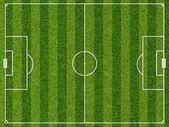 Empty football field with markup — Stock Photo