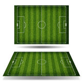 Empty football field with markup — Stock Photo