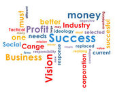 Background with business words — Stock Photo