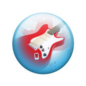 Electric guitar. Spherical glossy button — ストック写真