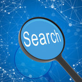 Magnifying glass looking Search — Stock Photo