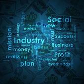 Business words on money background — ストック写真