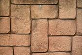 Wall of brown bricks — Stock Photo