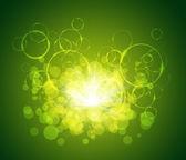 议案发光圆与未来派绿色圆圈抽象背景 — 图库照片