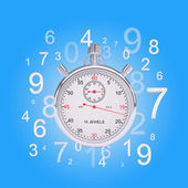Stopwatch with figures — Foto Stock