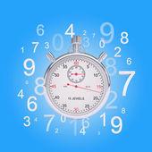 Stopwatch with figures — Foto de Stock