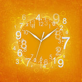 Clock face with figures — Stock Photo