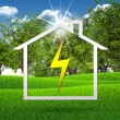 Symbol of electricity and house — Stock Photo #50720829