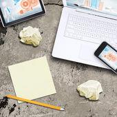 Ноутбук, планшетный Пк и смартфон — Стоковое фото