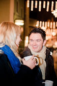 Couple on a Christmas Market — Stock Photo