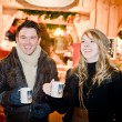 Fun on a Christmas Market - Stock Photo