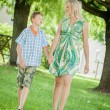 Mother and Son holding Hands — Stock Photo