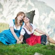 Two Woman in Dirndl — Stok fotoğraf