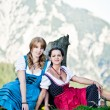 Women in the Austrian Alps — Stock Photo