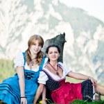 Women in the Austrian Alps — Stock Photo