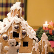 Gingerbread House at Home — ストック写真